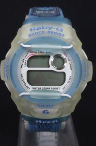 ジーショック G-SHOCK BABY-G 腕時計 デジタル 20気圧防水 BG-370WC-2BT 水色 ジャンク品 TM6075の買取実績