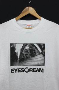 シュプリーム SUPREME EYESCREAM アイスクリーム Tシャツ カットソー 半袖 プリント コットン XL 白 AA TM10561 メンズ