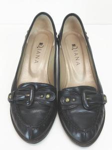 ダイアナ DIANA シューズ 靴 パンプス ローファー ベルト スタッズ ヒール 24 ブラック ※HBMK レディースの買取実績