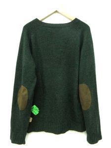 バル bal ニット セーター エルボーパッチ ステッカー RIB STECKERS SWEATER 緑 L ※HTの買取実績