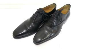 バーニーズニューヨーク BARNEYS NEW YORK ビジネスシューズ 革靴 レザー プレーントゥ 黒 ブラック 39 1/2