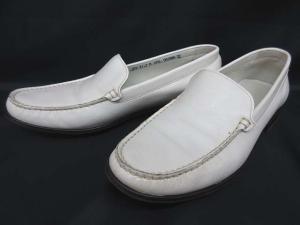 バリー BALLY ローファー レザー 革靴 白 ホワイト 37 1/2 IBS 0714