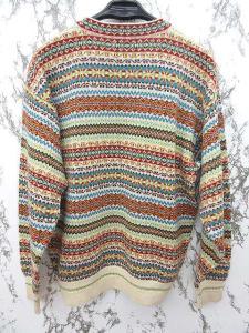 ケンゾー KENZO ニット セーター ウール100% Vネック 長袖 総柄 カラフル JJJ 0905の買取実績