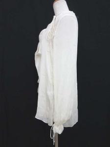 ジバンシィ GIVENCHY ブラウス 長袖 シフォン 変わり衿 シルク 白 ホワイト 38 1013 IBS レディースの買取実績