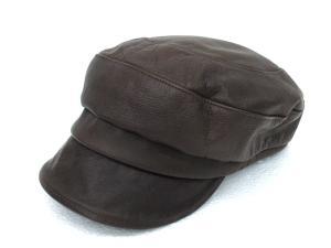 カシラ CA4LA レザー キャスケット 帽子 茶