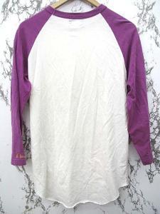 エヴィス EVISU Tシャツ 長袖 プリント 白 紫 42 0625の買取実績