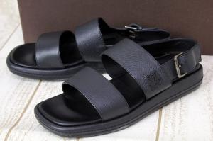 ルイヴィトン LOUIS VUITTON レザー サンダル 靴 バック ストラップ イタリア製 MA1003 6 1/2 黒 /J メンズの買取実績