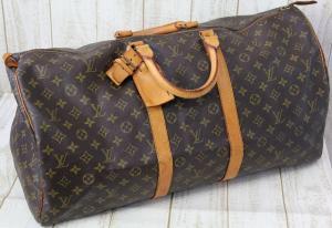 ルイヴィトン LOUIS VUITTON モノグラム ボストンバッグ 旅行 鞄 キーポル55 M41424 茶 /J SSAW ユニセックス