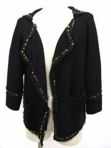 アドーア ADORE カーディガン ニット ショート丈 トッパー ビジュー装飾 ブローチ付き 黒 38 C-067の買取実績