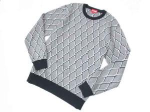 シュプリーム SUPREME 国内正規 13AW カットソー セーター ニット クルーネック グレー M E-293の買取実績