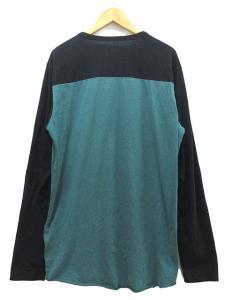 シュプリーム SUPREME Tシャツ カットソー 長袖 クルーネック バイカラー M 黒 ブラック 緑 グリーン 秋冬 ※MHの買取実績