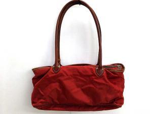 フェリージ Felisi トートバッグ ショルダーバッグ ナイロン レザー 00102 鞄 茶 ブラウン 赤の買取実績