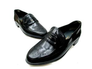 バリー BALLY ビジネスシューズ 革靴 ウイングチップ 黒 6.5 E-511