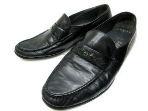 バリー BALLY ビジネスシューズ 革靴 ロゴ ブラック 7 E-012の買取実績
