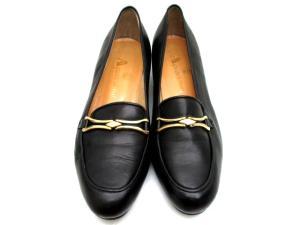 アクアスキュータム AQUASCUTUM ローファー 革靴 ヒール ブラック 23.5 E-446 レディースの買取実績