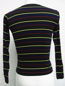 ビームスボーイ BEAMS BOY カットソー Tシャツ コットン 長袖 丸首 ボーダー ネイビー 紺 マルチカラー /H2626 メンズの買取実績