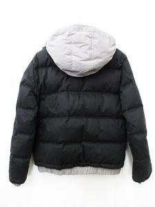 アルマーニ ジーンズ ARMANI JEANS ダウンジャケット フード付き ジップアップ ダウンパック 黒 ブラック グレー L 国内正規 メンズの買取実績