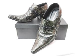 5351プールオム 5351 POUR LES HOMMES 革靴 クロコ型押し モンクストラップ シルバー 44