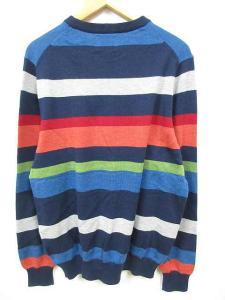 ブルックス ブラザーズ ブラック フリース BROOKS BROTHERS BLACK FLEECE ニット セーター ボーダー 長袖 S 綿 ネイビー マルチカラーの買取実績