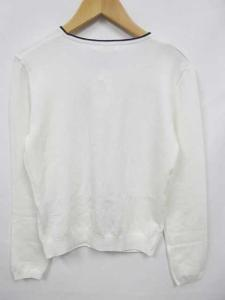 未使用品 ヨンドシー 4℃ カーディガン クルーネック 長袖 白 38 ◯の買取実績