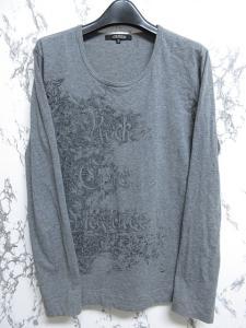 5351プールオム 5351 POUR LES HOMMES カットソー Tシャツ 長袖 Uネック トップス イラスト グレー 3