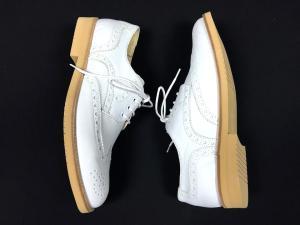 未使用品 ボエモス BOEMOS ウイングチップ レザーシューズ 短靴 ローファー 40 25.0cm ホワイト 白の買取実績