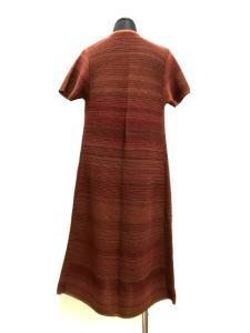 ジェイ&エムデヴィッドソン J&M Davidson ロングカーディガン 羽織り コットン 半袖 エンジ/ブラウン 赤茶の買取実績