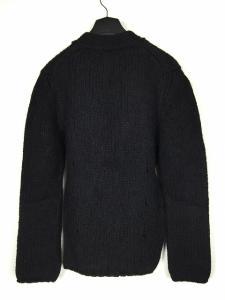 未使用品 アンドゥムルメステール ANN DEMEULEMEESTER 14AW ローゲージ ニットカーディガン ウール ブラック 黒 XS メンズの買取実績