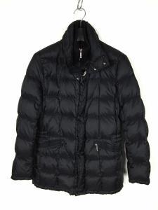 モンクレール MONCLER ダブルフロント ハーフダウンコート ダウンジャケット ナイロン ブラック 黒 0 メンズ