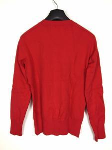アタックザマインドセブン attack the mind 7 9200 カシミヤ混 コットンニット セーター Vネック 長袖 レッド 赤 2 メンズの買取実績