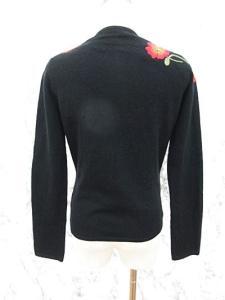 ケイタマルヤマ KEITA MARUYAMA カーディガン 花 刺繍 アンゴラ混 1 黒 ブラックの買取実績