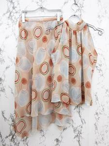 レキップヨシエイナバ L'EQUIPE YOSHIE INABA セットアップ タンクトップ スカート タートルネック シフォン 総柄 リボン 9 ピンクの買取実績