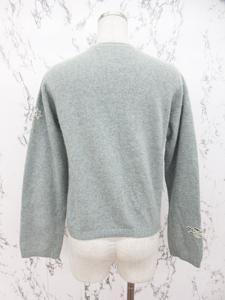 ケイタマルヤマ KEITA MARUYAMA ニット カーディガン クルーネック 長袖 刺繍装飾 M ミントグリーン 緑系の買取実績