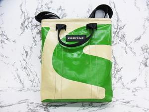 フライターグ FREITAG リーランド LELAND トートバッグ ショルダーバッグ 2way ファスナー付 緑 白
