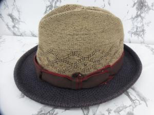 カシラ CA4LA 帽子 ハット バイカラー ベージュ 紫系 パープル系