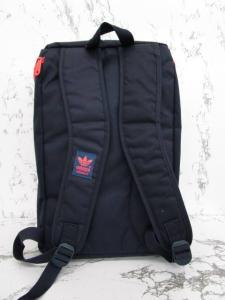 アディダスオリジナルス adidas originals バッグ リュックサック ポリエステル ロゴプリント ネイビー レッドの買取実績