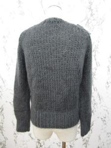 ビリティス ディ セッタン Bilitis dix-sept ans ニットカーディガン セーター 長袖 リボン装飾 F グレーの買取実績