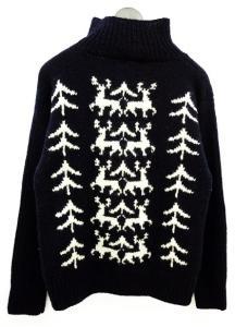 フォーティーファイブアールピーエム 45rpm セーター ニット ハイネック ノルディック ウール 紺 メンズの買取実績