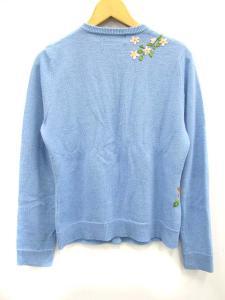 ケイタマルヤマ KEITA MARUYAMA カーディガン ニット クルーネック 花柄 長袖 1 水色系の買取実績