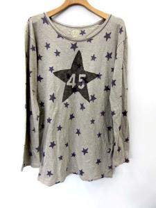 フォーティーファイブアールピーエム 45rpm Tシャツ カットソー ロゴ 総柄 長袖 2 グレー系