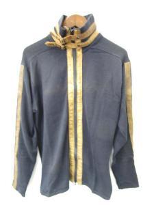 アヴィレックス AVIREX セーター ニット ジップアップ 無地 長袖 紺 茶色