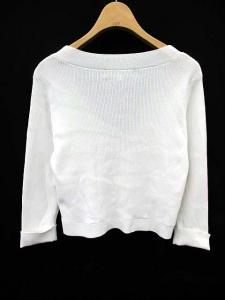 エムズグレイシー M'S GRACY カーディガン 羽織 ニット Vネック 無地 七分袖 38 白 /MT901の買取実績