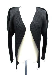 プリーツプリーズ PLEATS PLEASE カーディガン ノーカラー プリーツ 羽織り 長袖 黒 /DE78の買取実績
