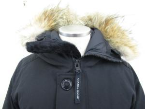 カナダグース CANADA GOOSE ジャスパー jasper 68F8490 ダウンジャケット コート 中綿 ファーフード S/P 黒 /ES502の買取実績