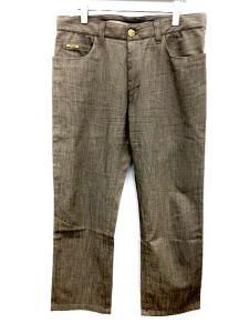 アルマーニ コレツィオーニ ARMANI COLLEZIONI パンツ テーパード ロング 33 茶色 /SR31 ★★ メンズ