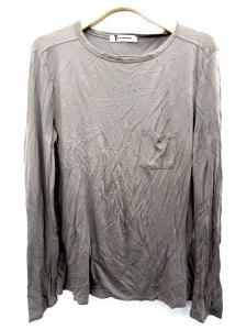 アレキサンダーワン ALEXANDER WANG カットソー Tシャツ 長袖 無地 XS グレー /FM748 メンズ