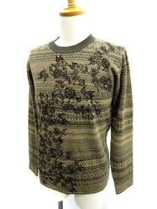ポールスミス PAUL SMITH セーター ニット 総柄 M 茶色 /MY179 メンズの買取実績