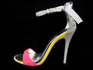 ダイアナ DIANA サンダル ピンヒール ストラップ リボン スエード 24 ピンク 黄色 グレーの買取実績