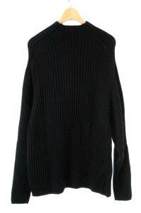 バーニーズニューヨーク BARNEYS NEW YORK セーター ニット ハイネック ウール 長袖 L 黒 メンズの買取実績