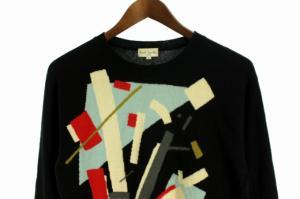 ポールスミス PAUL SMITH セーター ニット ラウンドネック カシミヤ 長袖 M 黒 メンズの買取実績
